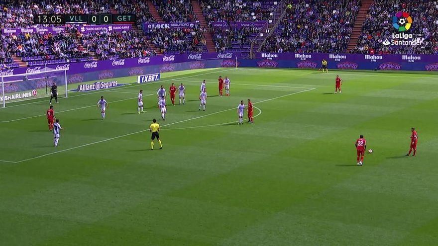 El Getafe se lleva un punto ante el Valladolid en el último suspiro