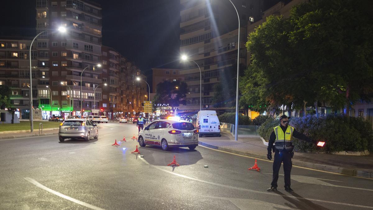Control de la Policía en Cartagena