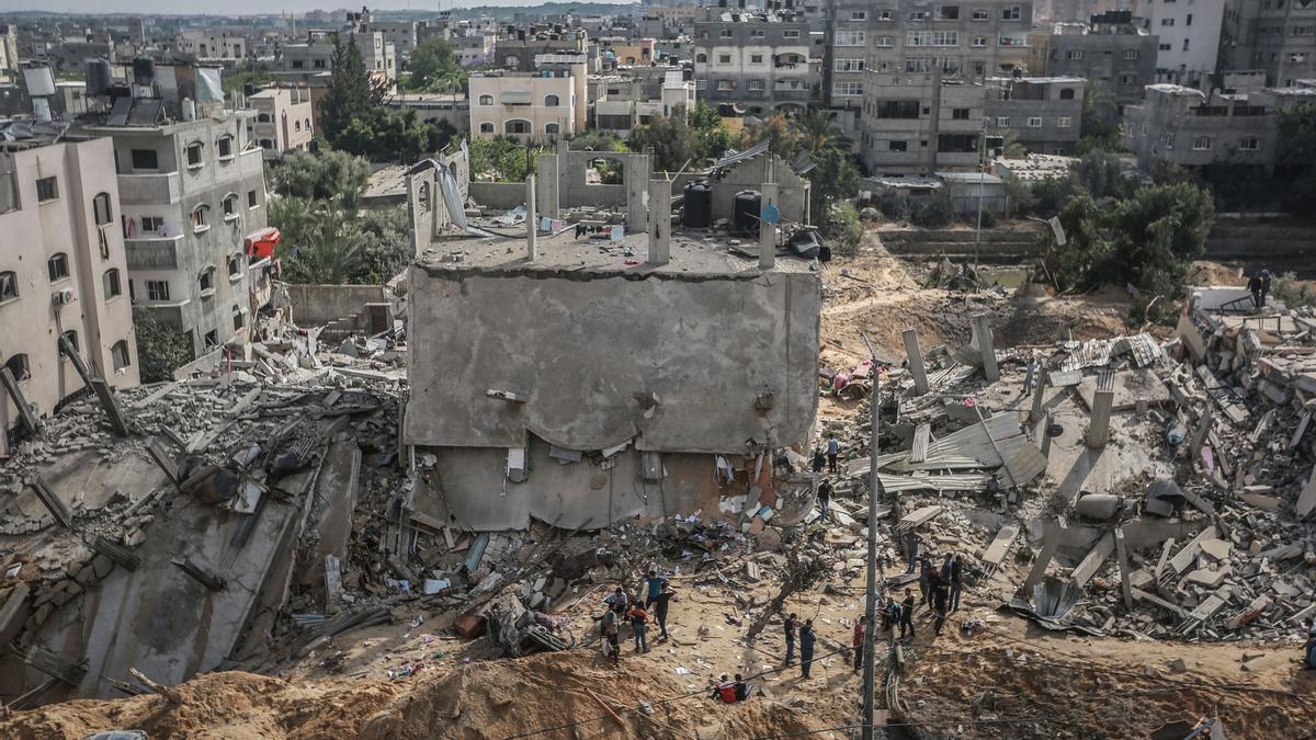 Edificios bombardeados por Israel en Beih Lahia, en el norte de la Franja de Gaza.