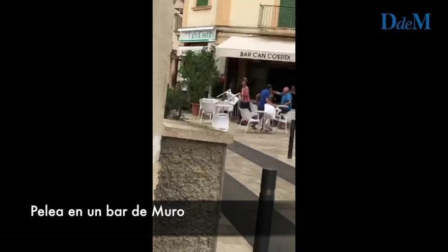 Violenta pelea en un bar de Muro