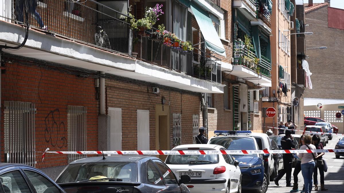 El domicilio donde tuvo lugar el doble crimen de Alcobendas