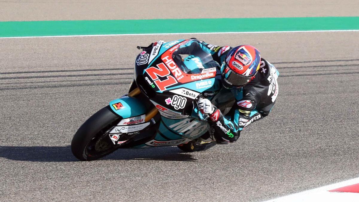 Fabio di Giannantonio, en el circuito de Motorland Alcañiz.