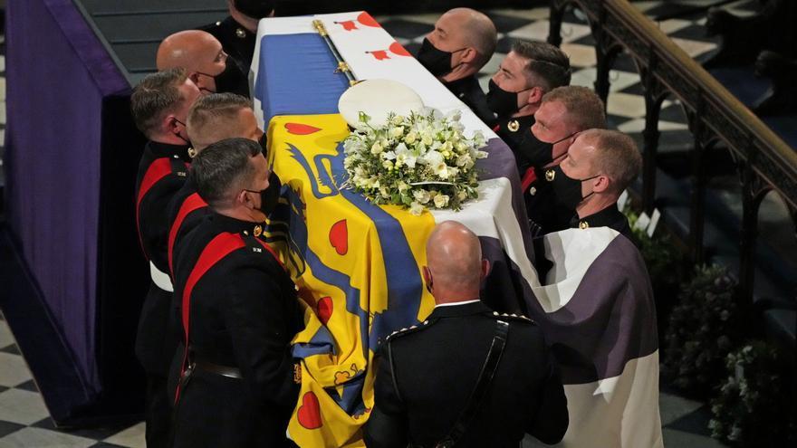 Funeral del duque de Edimburgo en la capilla de San Jorge