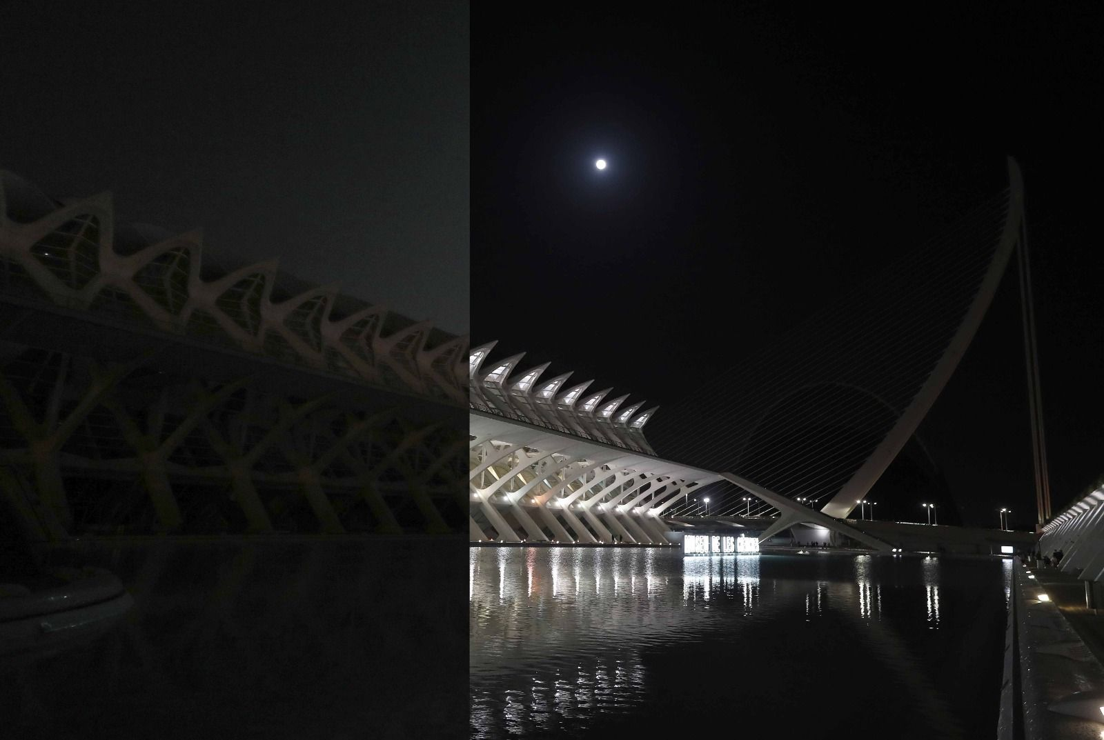 Así ha sido el apagón de la Hora Planeta en València