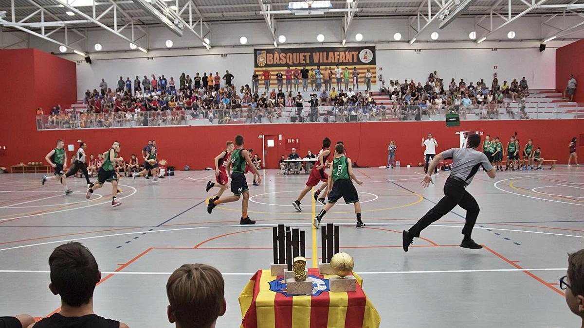 Imatge d'una edició passada del torneig U13 del Bàsquet Vilafant