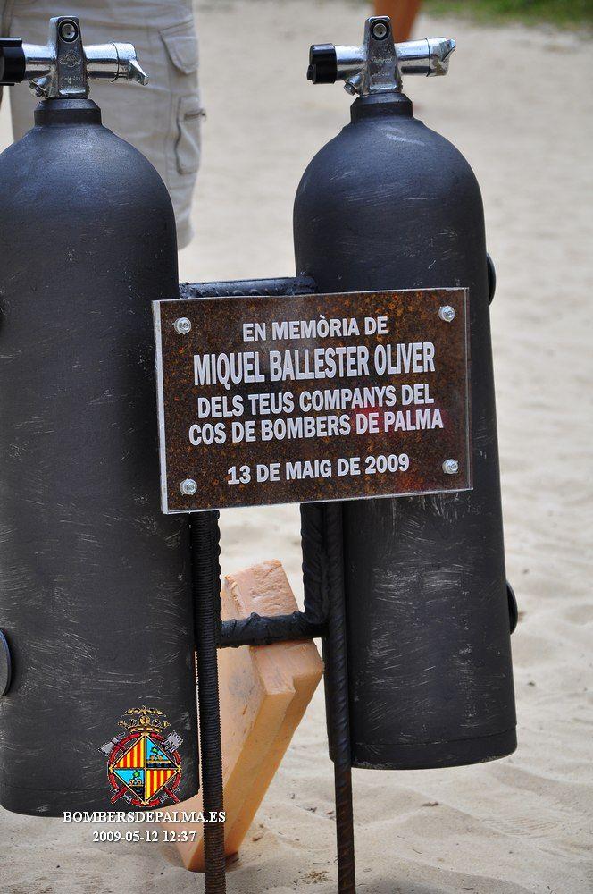 Minuto de silencio por el bombero Miquel Ballester, fallecido hace 13 años