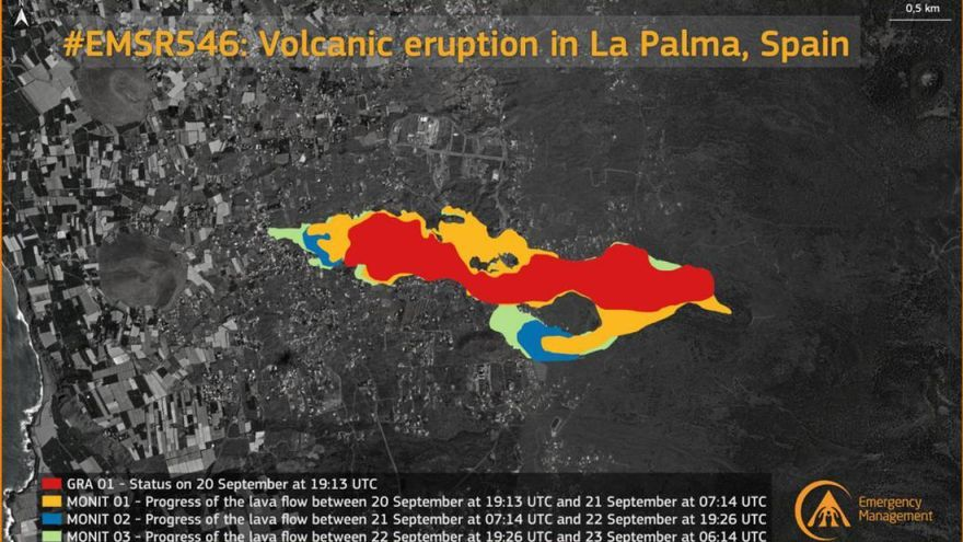 La lava cubre más de 180 hectáreas de La Palma que destruye 390 edificaciones