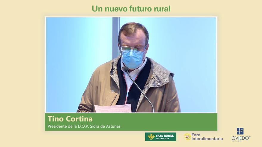 """Tino Cortina, presidente de la DOP Sidra de Asturias: """"Hay que implantar en los colegios la Semana del Campo"""""""