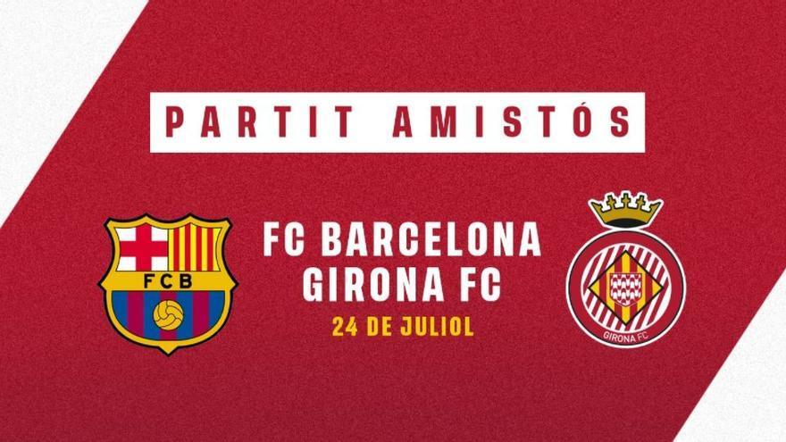 El Barça tornarà a ser rival del Girona a la pretemporada
