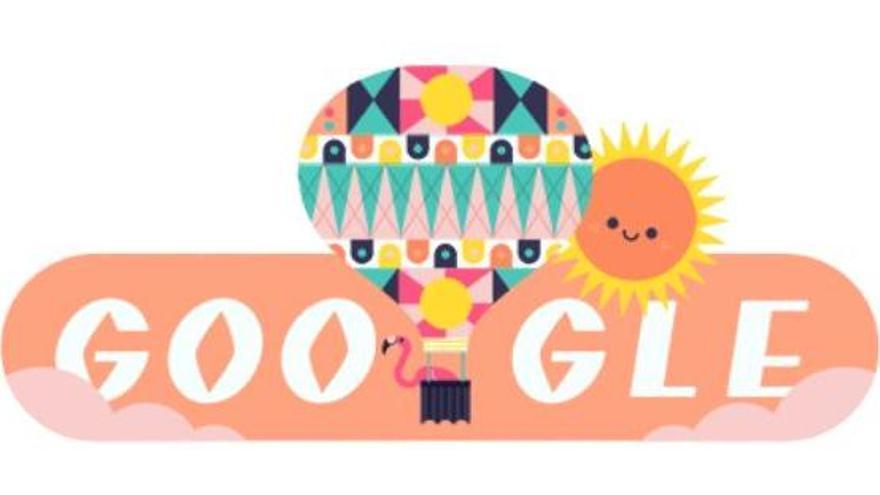Google dedica su 'doodle' a la entrada del verano