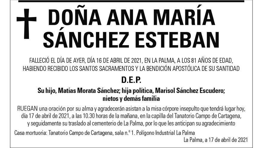 Dª Ana María Sánchez Esteban