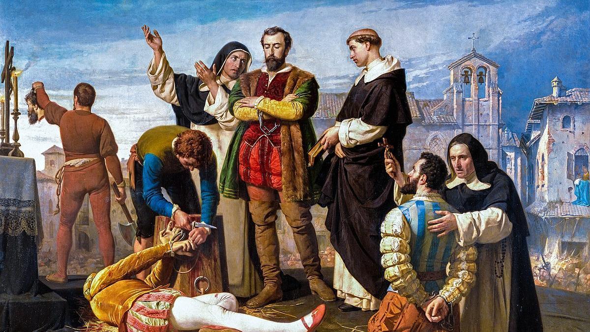 Ejecución de los comuneros de Castilla de Antonio Gisbert.