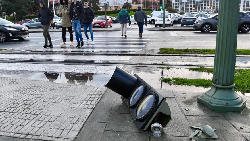 Temporal con alerta roja en la costa de A Coruña