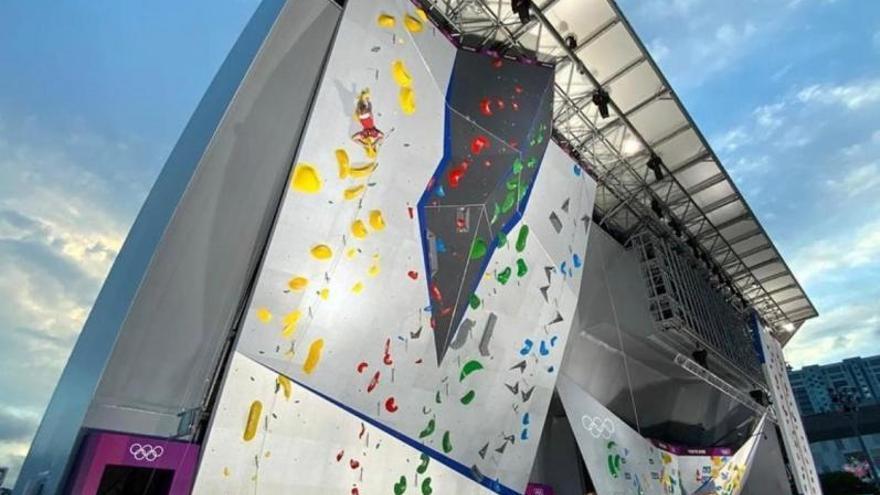 La escalada deportiva debuta en Tokio con tres paredes fabricadas en Asturias