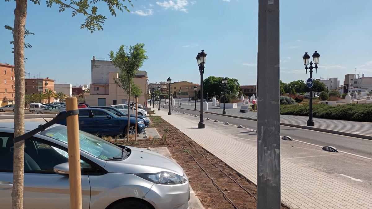 Las nuevas plazas de aparcamiento