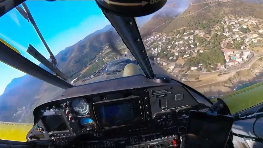 Vídeo des d'un avió de vigilància i atac