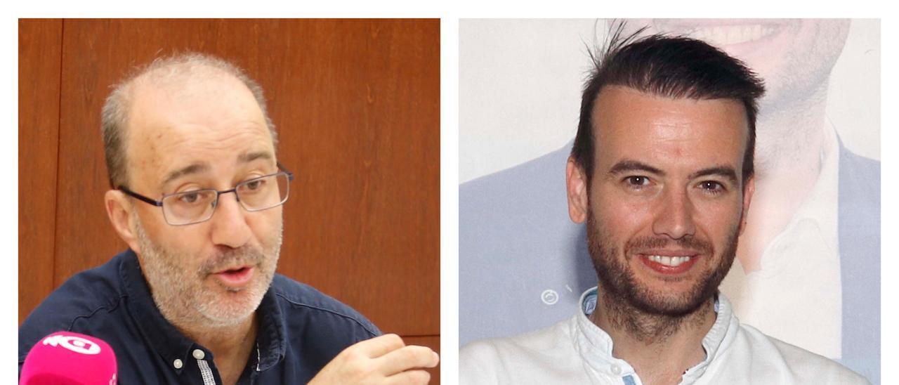 El alcalde, Diego Gómez, y el líder del PP, José. A. Hernández.