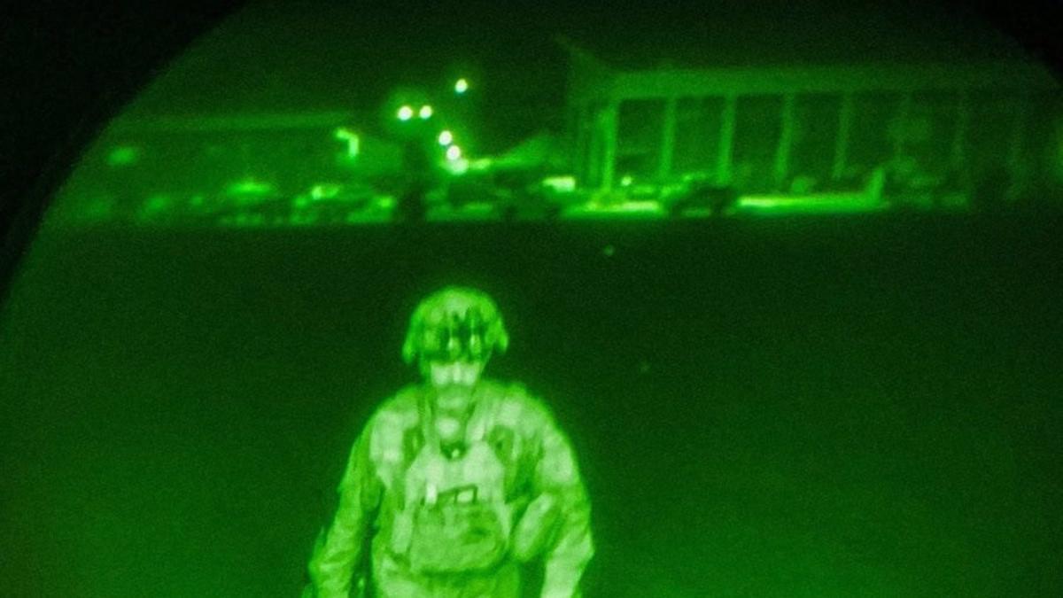 Chris Donahue, último militar de Estados Unidos en abandonar Afganistán.