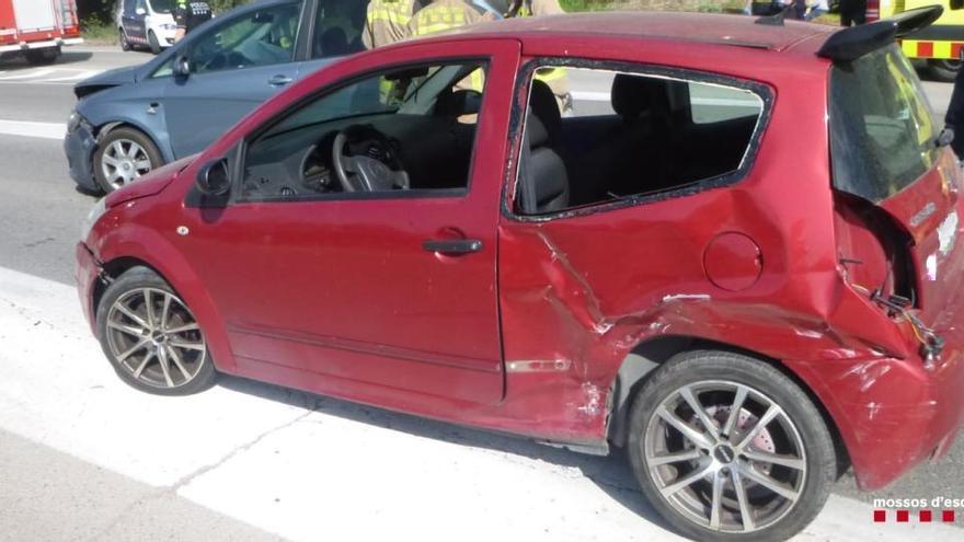 Detenen un conductor ebri per provocar un accident de trànsit a la C-55, a Sant Joan