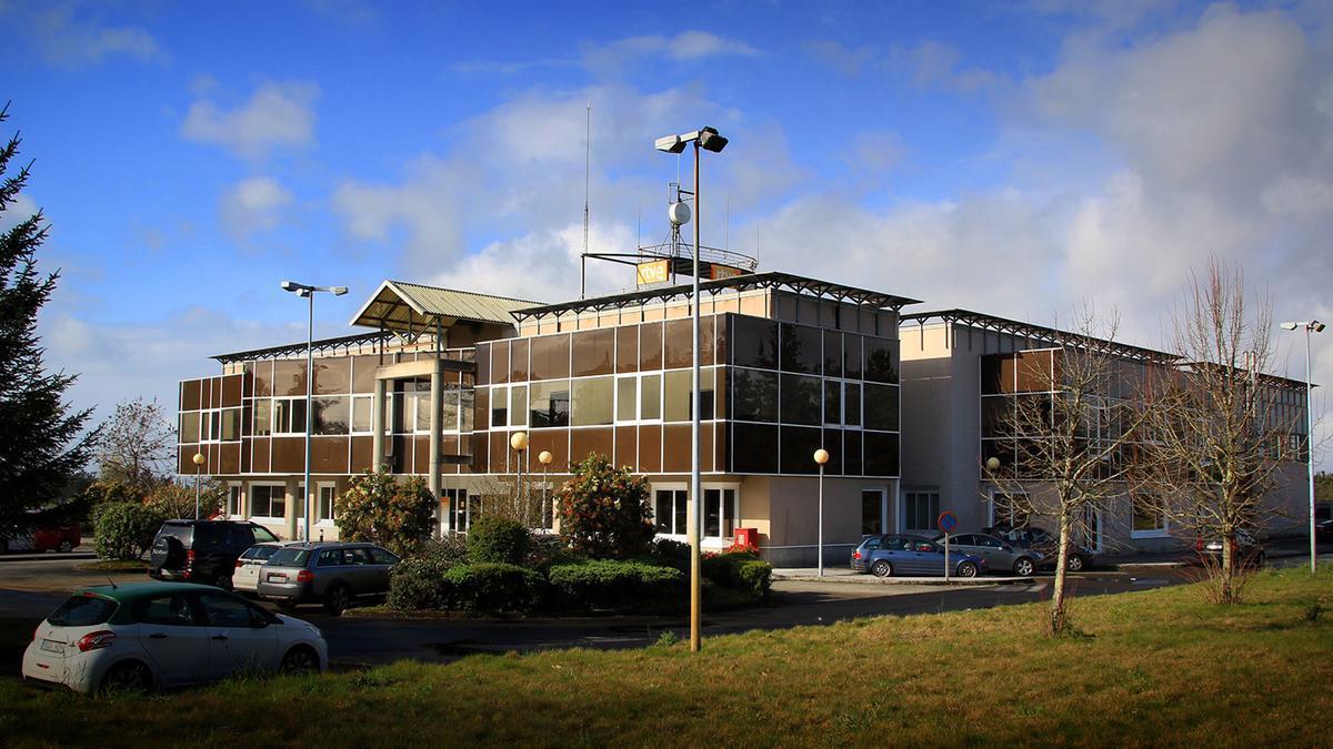Edificio del Centro Territorial de Radio Televisión Española (RTVE) en Galicia.