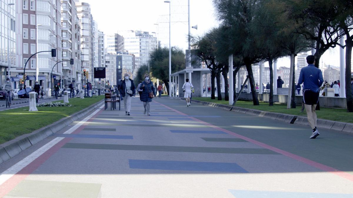 Zona peatonal del paseo del Muro.