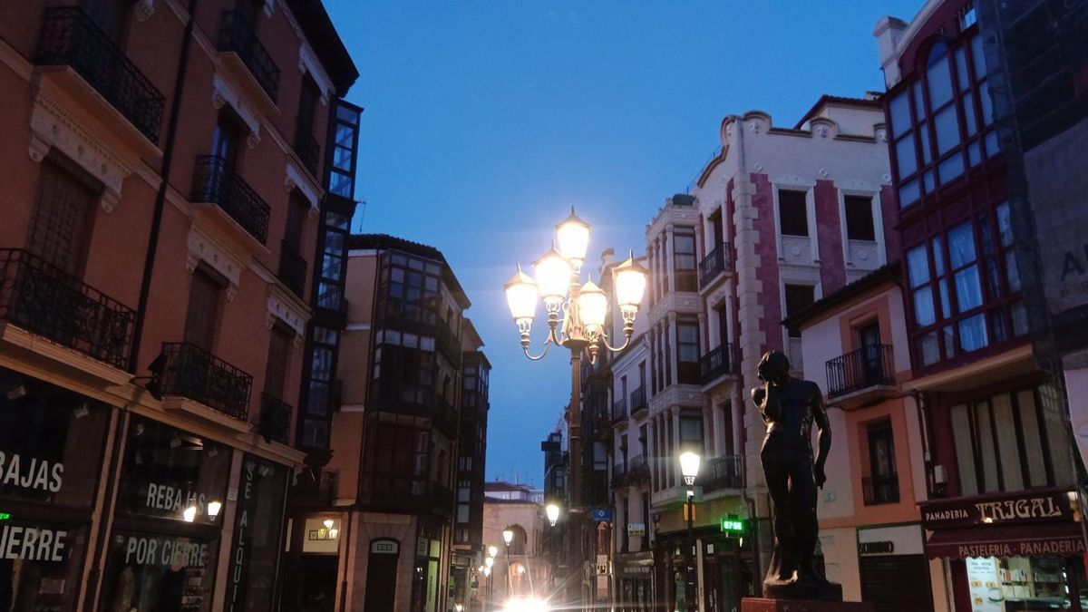 Plaza de Sagasta de Zamora capital, esta mañana de lunes.
