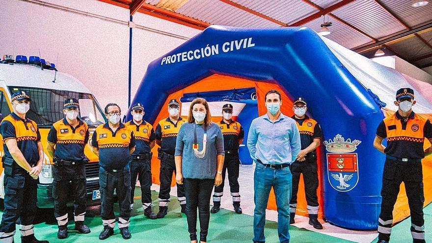 Protección Civil de Arrecife se dota del primer hospitalito de campaña de la Isla