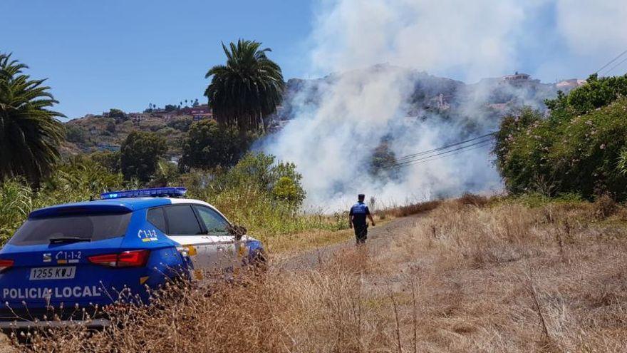 Buscan a un incendiario en Santa Brígida