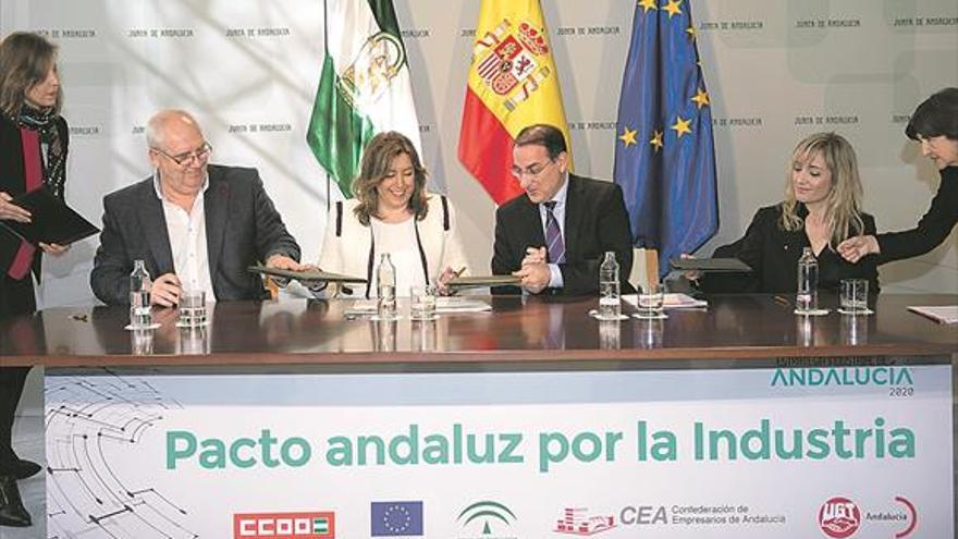 El pacto por el desarrollo industrial prevé inversiones por 8.000 millones