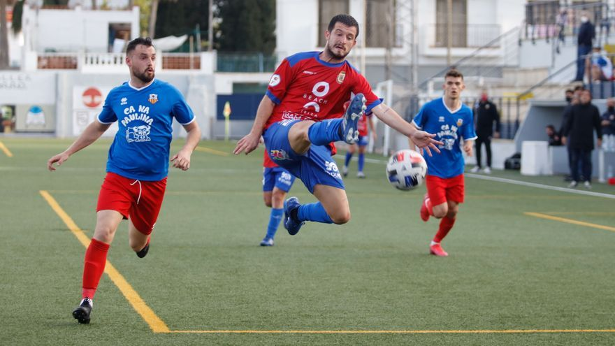 El Portmany acaricia el empate, pero cede frente al Mallorca B