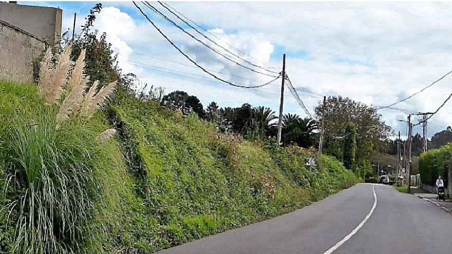 La Xunta limpia las márgenes del vial Os Regos-Santa Cruz