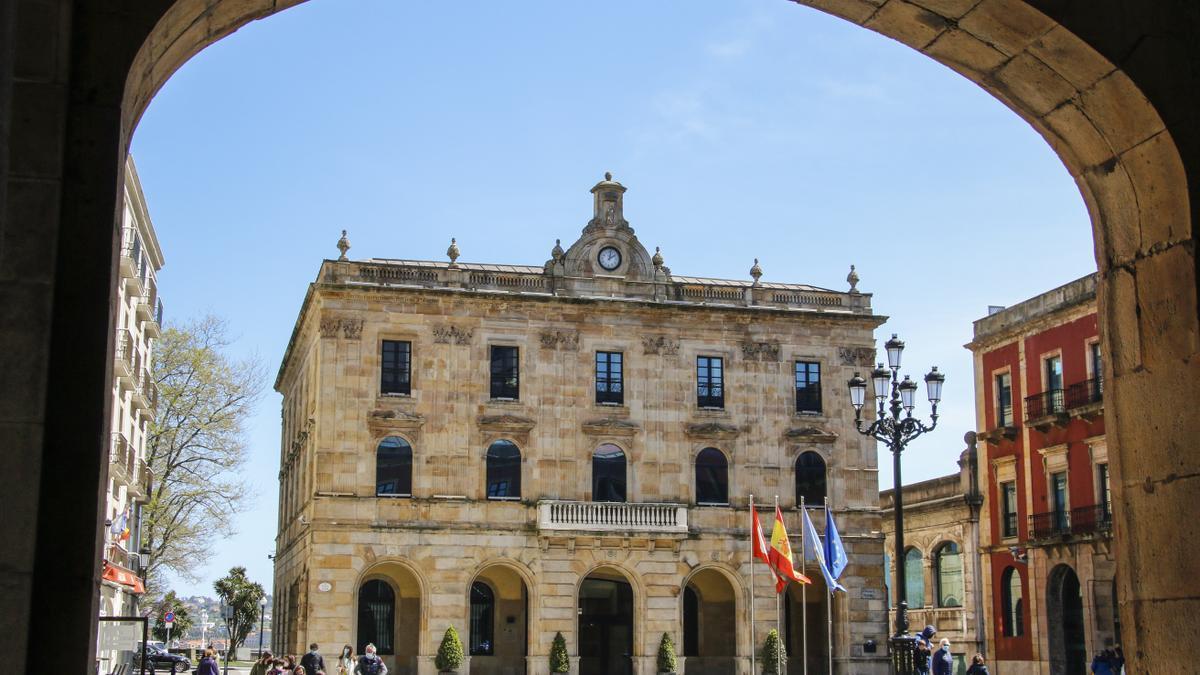 La Casa Consistorial de Gijón.