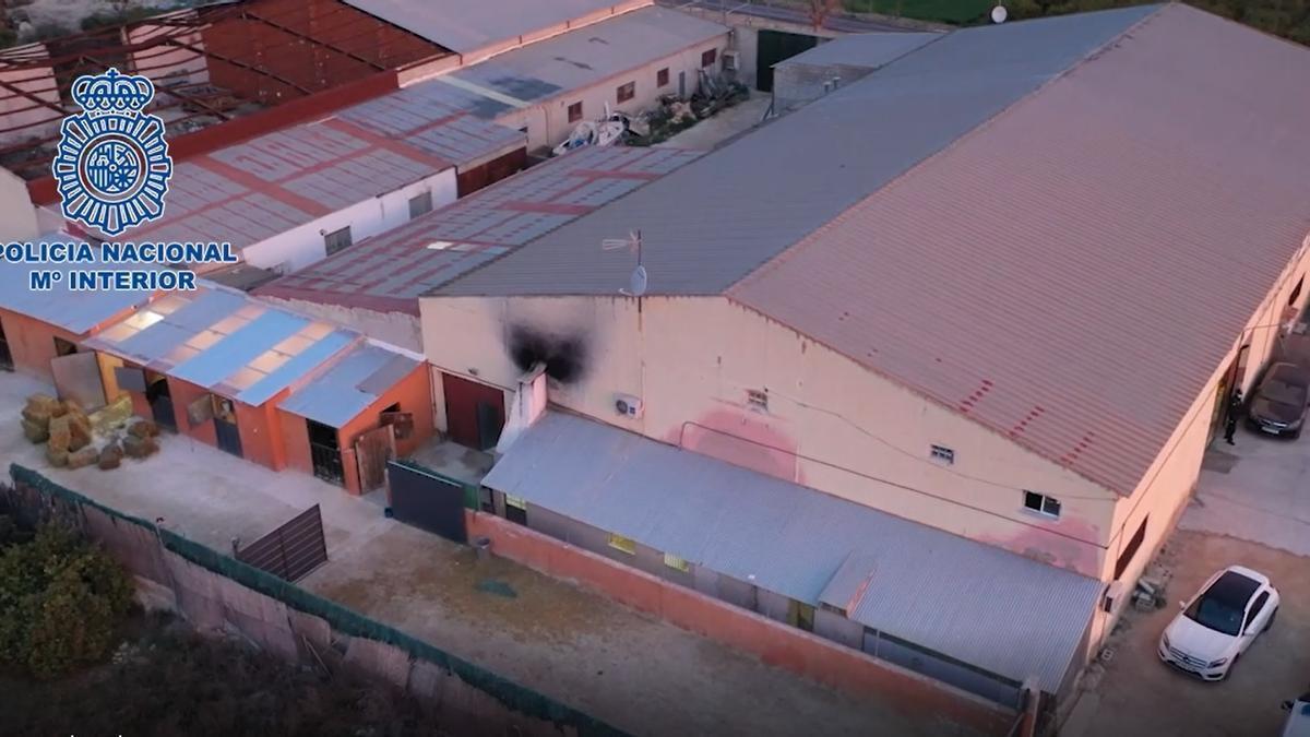 Laboratorio clandestino de cocaína en Alicante