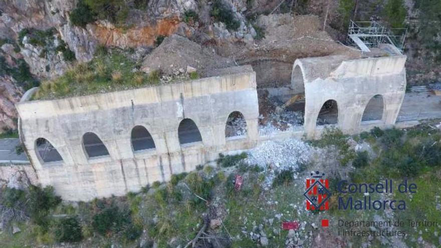 Fast zwei Jahre nach Steinschlag: Tunnel von Estellencs wird repariert