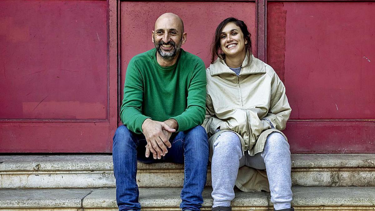 Los actores Toni Gomila y Catalina Florit, esta semana, en el Espai El Tub de Palma.