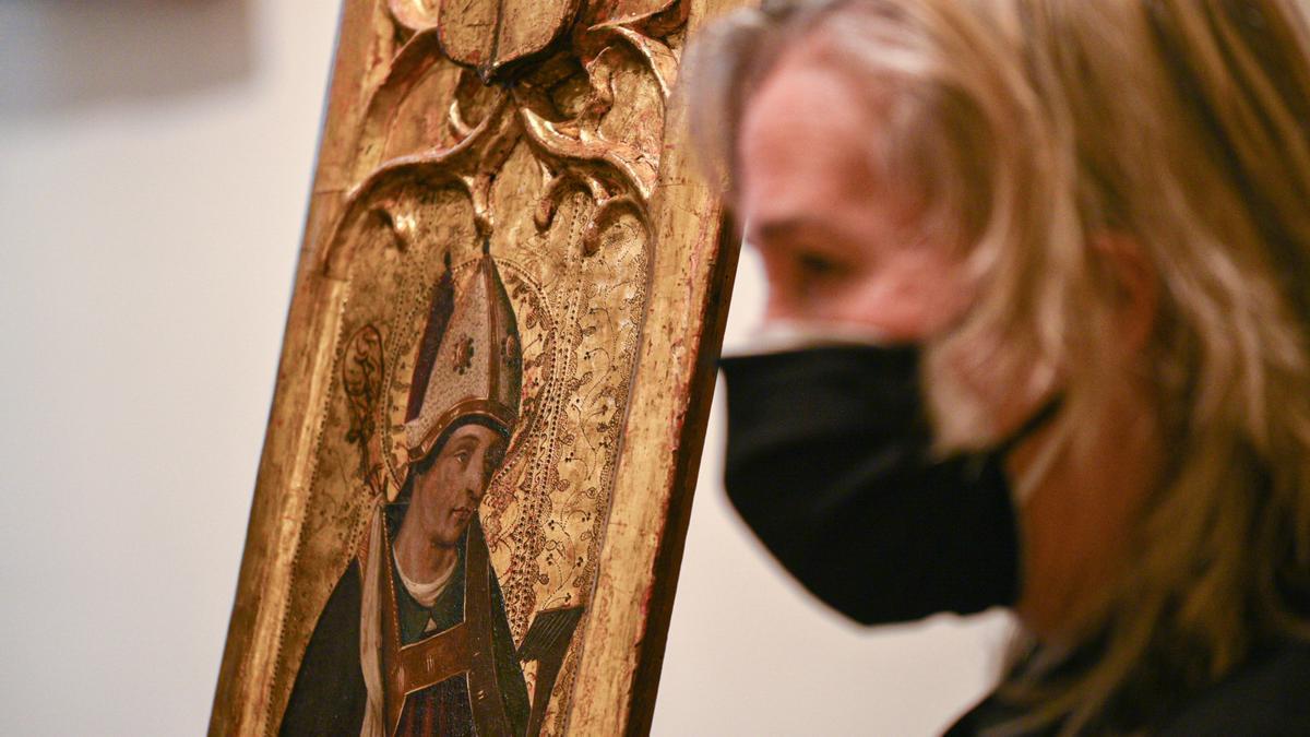 La tabla gótica del siglo XV recuperada después de 85 años