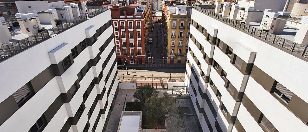 La residencia Collegiate Marina Real, en la imagen, fue impulsada por Princeton Investments. | GERMÁN  CABALLERO
