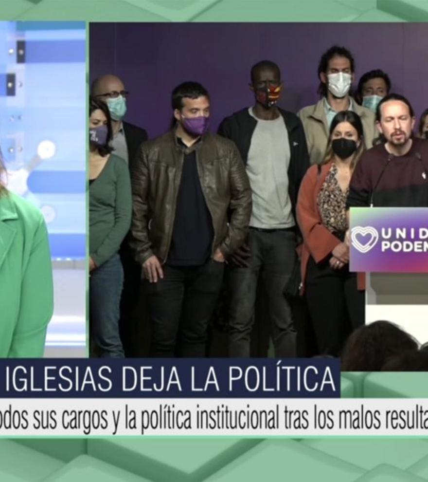 """Ana Rosa, sobre la dimisión de Pablo Iglesias: """"Ya le debemos otra a Ayuso"""""""