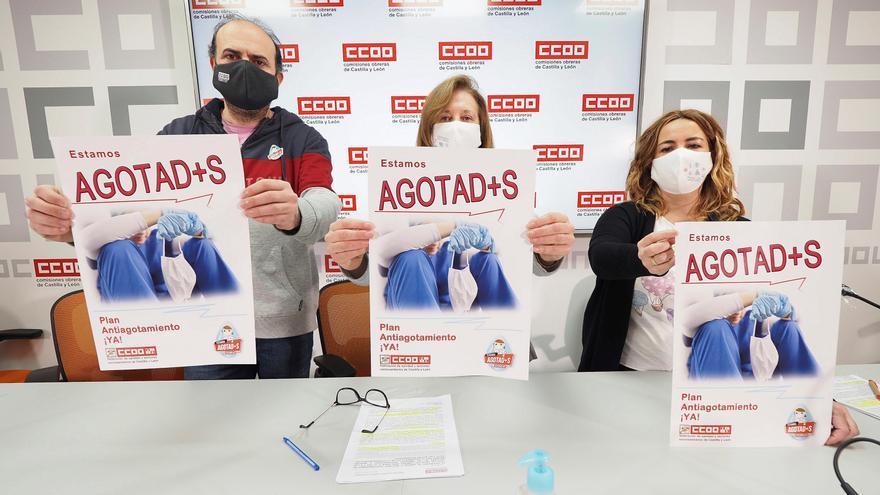 CC OO promueve una encuesta entre sanitarios de Castilla y León para hacer medible su agotamiento