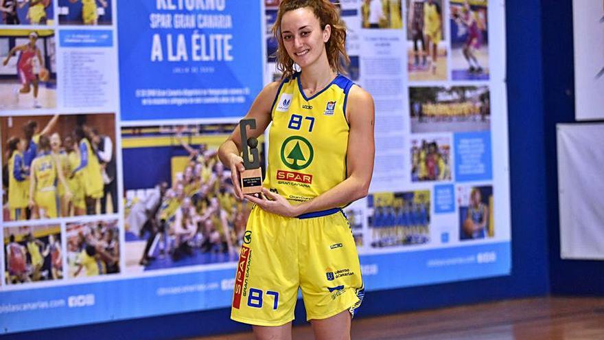 Marta Hermida, premiada como la jugadora de mayor progresión en el año 2020