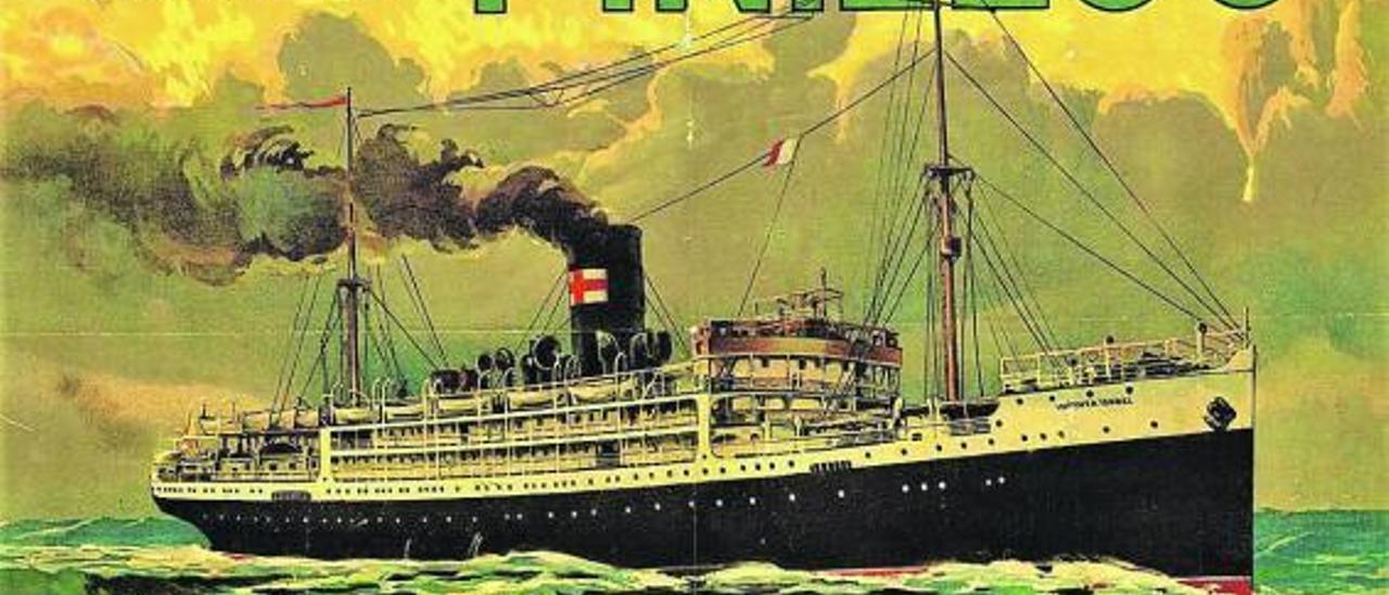 Imagen de un barco de la Línea Pinillos que hacía la ruta de Cuba.