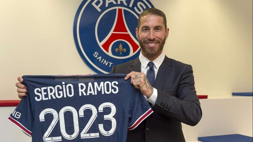 Sergio Ramos se entrena por primera vez con el PSG