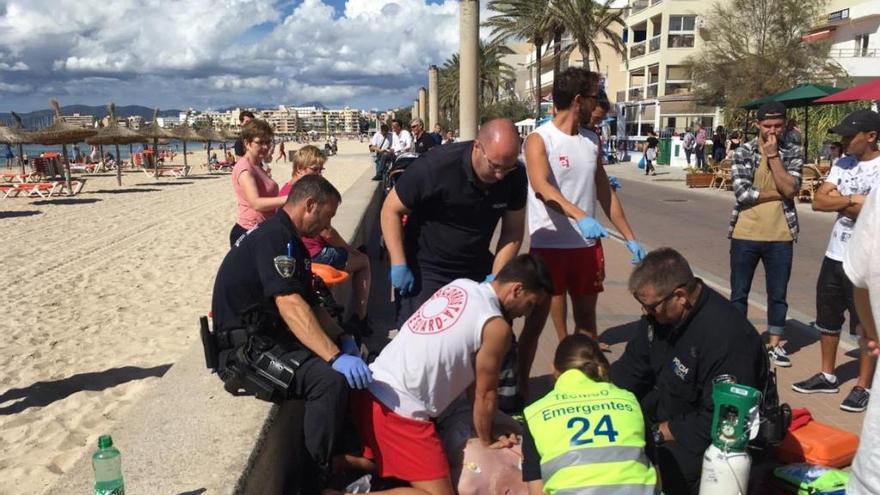 51-Jähriger erleidet Herzinfarkt an der Promenade der Playa de Palma