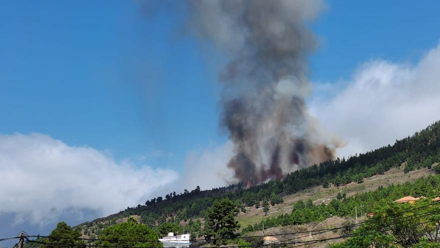 Comienza la erupción del volcán en La Palma