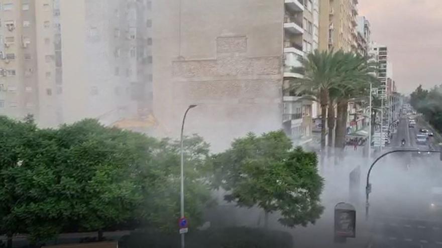 Derrumbe de un edificio en la Plaza de España de Cartagena