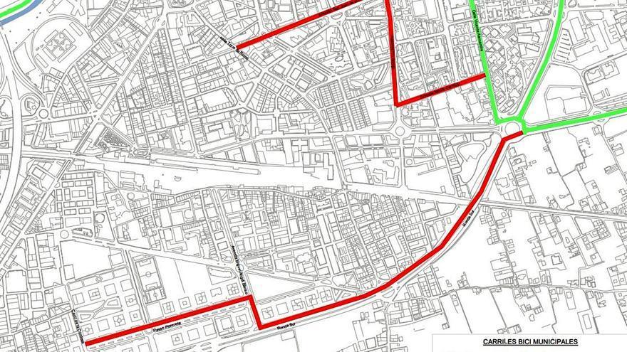 Proyectan 52 kilómetros de carriles bici en el entorno de la estación y hasta pedanías
