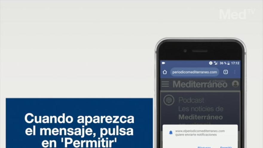 VÍDEO | Recibe al instante las noticias más importantes de 'Mediterráneo' en tu móvil y ordenador