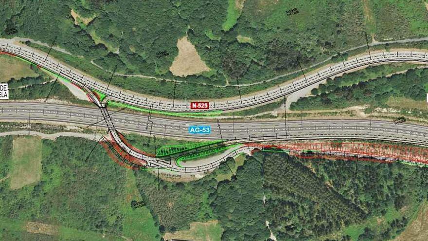 Licitan por más de un millón de euros el acceso a la AG-53 en sentido Ourense