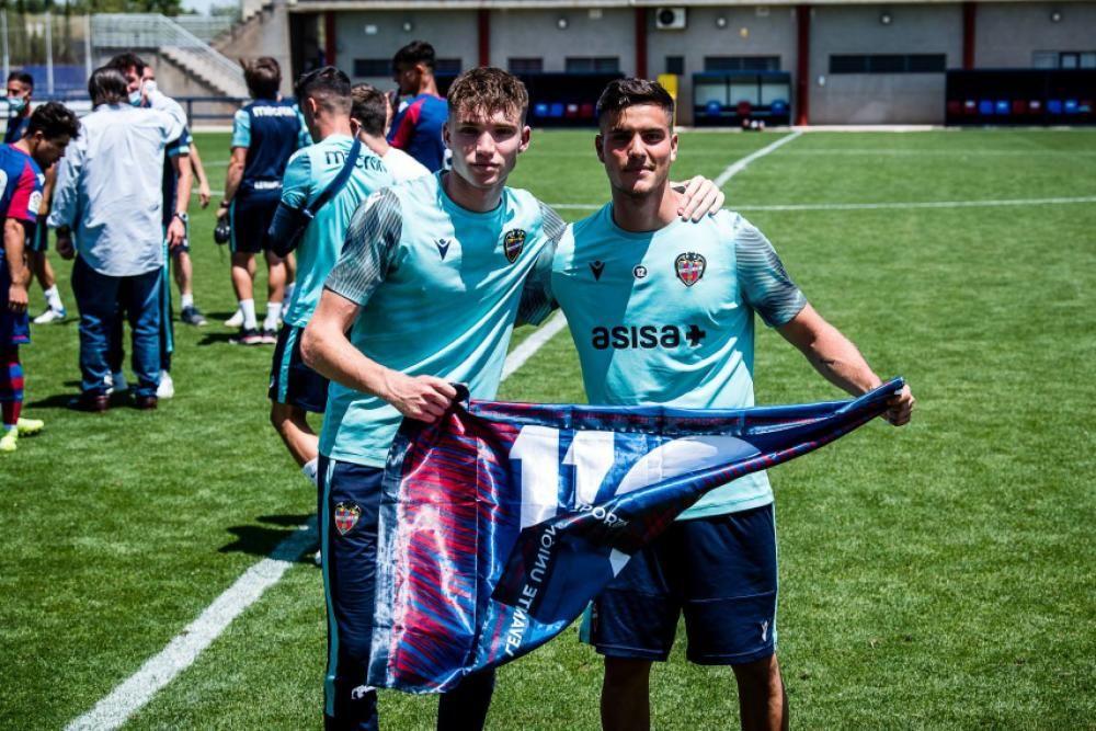 La celebración del Juvenil A del Levante UD tras ser campeones de liga