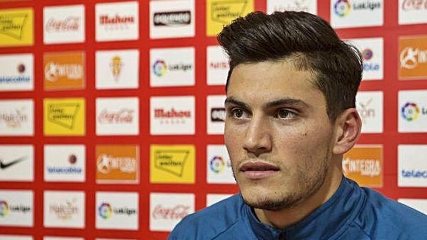 Cristian Salvador, ayer en la sala de prensa de Mareo.
